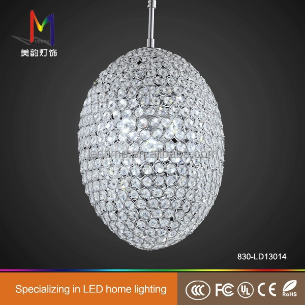 modern wedding centerpiece led hanging crystal glass ball chandelier pendant light