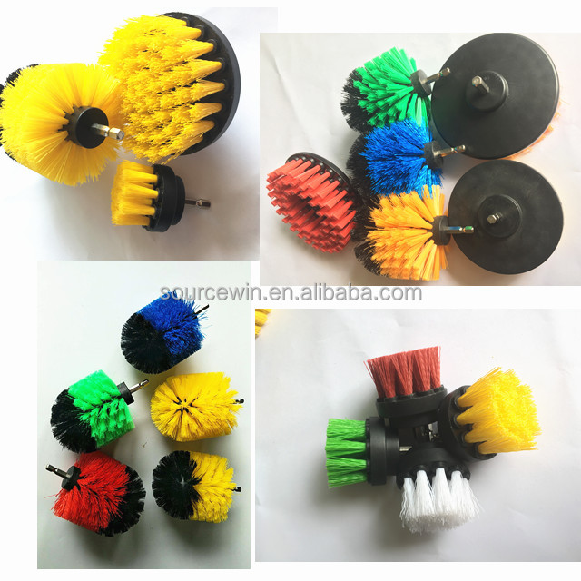 Hot Sale Cleaning Brush Kit For Drill Electrical Powered Drill Powered Scrub Cleaning Disc Brushes