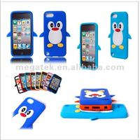 Cell phone case phone accessories Cute Penguine cartoon silicone case for ipod touch 5