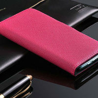 factory elegant wallet couple case for samsung galaxy s4 with stylus holder