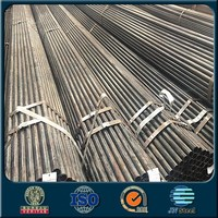 black powder coated galvanized steel pipe Round ERW steel pipe