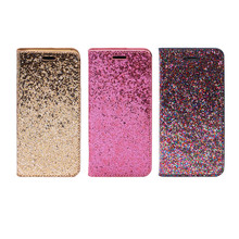 Luxury Bling Stand Magnetic Flip PU Leather Case Cover For IPhone 6 7 8 X