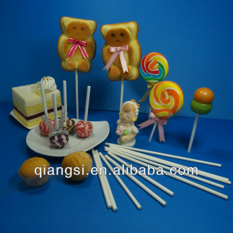 Customized White Paper Lollipop Sticks Bulk