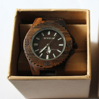 Customized Brand 3ATM waterproof sandal wood watch
