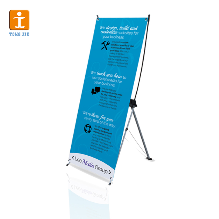 Advertising exhibition trade show display rack x banner
