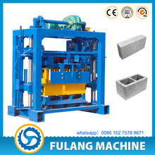 small scale stationary QTF40-2 manual operation standard concrete cement brick block making machine