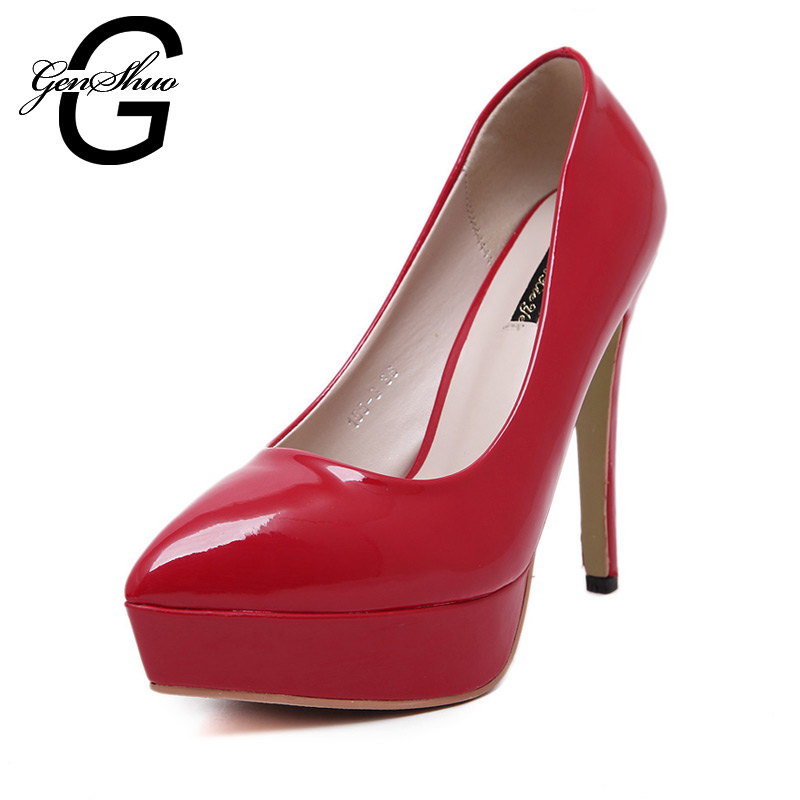 Fashion Hot Sale Sexy Point Toe White Black Red 12cm High Heels Shoes Lady's Pumps Summer Sandals For Female
