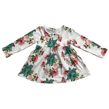 Hot sale Baby <strong>Girl's</strong> Floral Print baby <strong>dress</strong> Wholesale boutique long sleeve Baby <strong>Dress</strong>