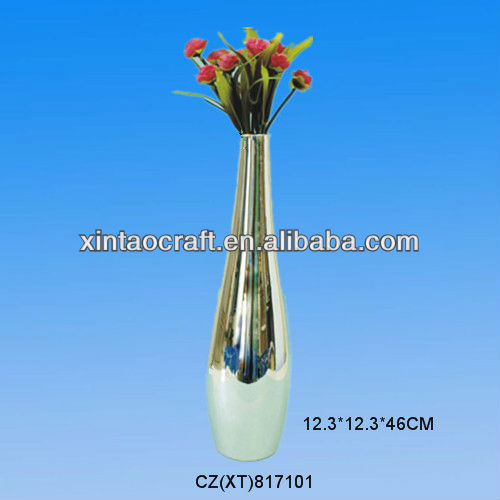 Wholesale silver ceramic vases