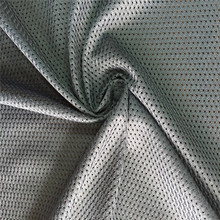 haining 100% polyester sports wear lining mesh fabrics knitting mesh cloth for basketball uniform