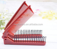 Best-selling two handle stainless balisong folding pocket comb