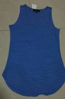 Big Stocklot Sleeveless Blue Casual Tank Top