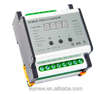 LED controller of DMX four channels rail decoder for AC12-24V
