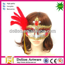 Wholesale Red Funny Feather Masquerade Party Masks