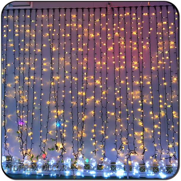 Light up fairy light curtain cheap decorative led curtain light
