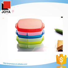 China Factory Clear Plastic Transparent Printed Lunch Box