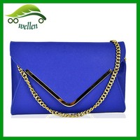 Personality leather emvelope clutch bag