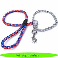 Dog choke chain, stainless steel pet leashes, strong stainless steel dog chain