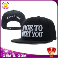wholesale fashion snapback 3d custom embroidery hat made in China