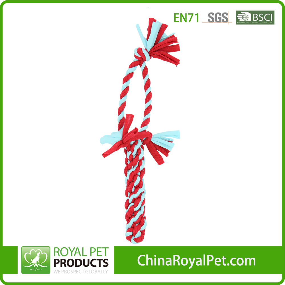 New Eco Friendly Pet Supplier Rope Corncob With Handle Dog Toy