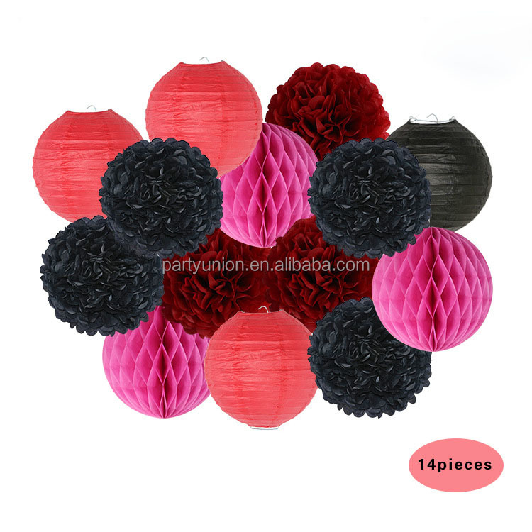 Hot Sale Paper Lanterns Paper Flower Ball Paper Pom poms for Wedding and Birthday Party Decoration
