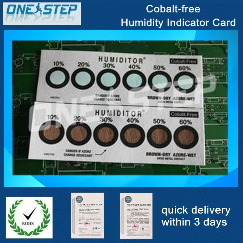 PCB LED SMD moisture proof cobalt free humidity indicator card