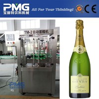PMG Glass Bottle 18-18-6 champagne rinsing and filling machine with corker / clear glass bottles with cork