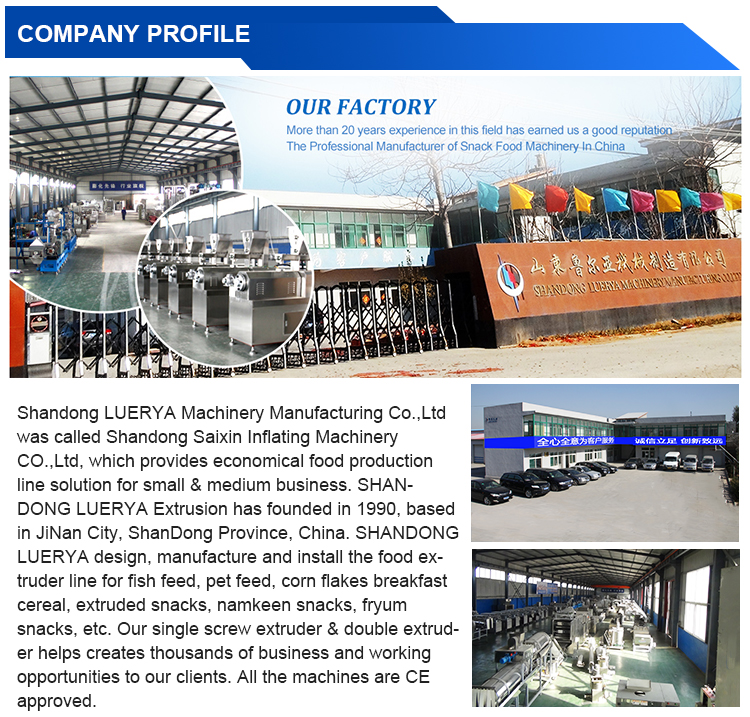 Most Competitive corn puff snacks food production line extruder machine