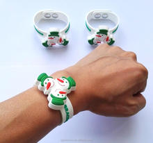 New Kids Toys For Kids Snowman Bracelet Fidget Spinner Toy Custom logo Christmas Gift Cool Rubber Spinning Bracelet