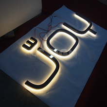 Professional stainless steel led backlit signboard with CE certificate