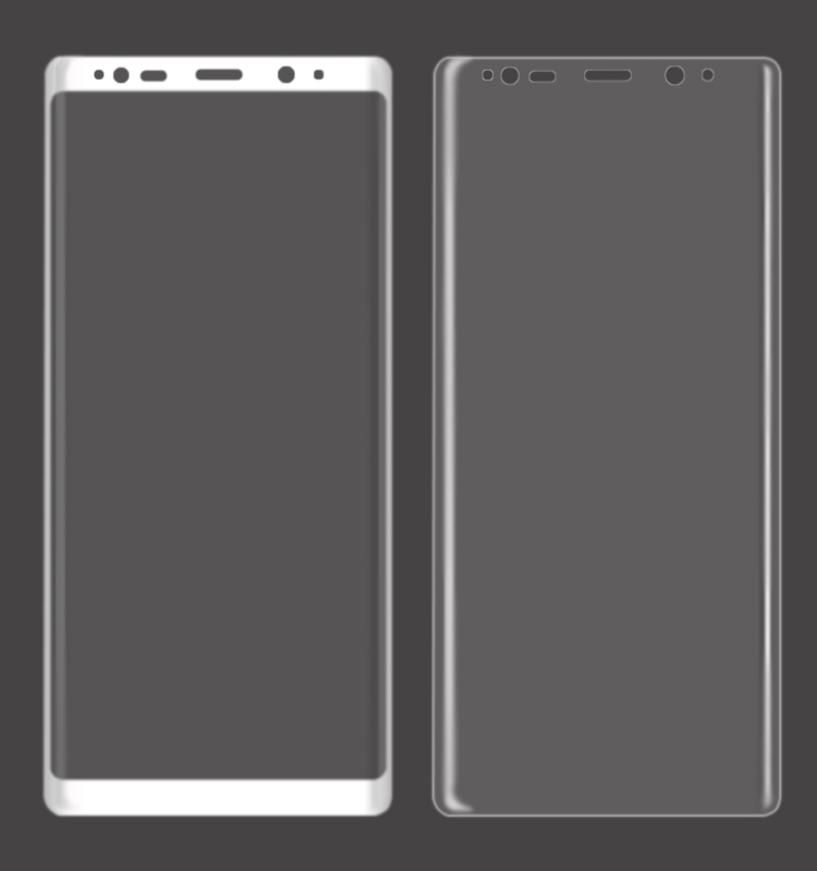 3D Full Curved Tempered Glass Screen Protector For Galaxy Note 9