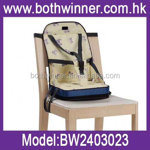 Travel baby booster chair booster seat green color ,H0T340 easy portable promotion gift plastic chair , baby plastic chair