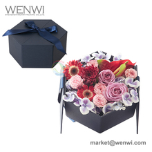 2017 Luxury New Wholesale Favor Rose Hat Cardboard Flower Boxes