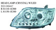 212-11G4-C OEM 81110-1E500 81150-1E380 FOR TOYOTA COROLLA 2005 MIDDLE EAST Auto Car head lamp head light(crystal w/led)