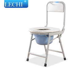 Powder coating stainless steel handicap commode shower chair with bedpan