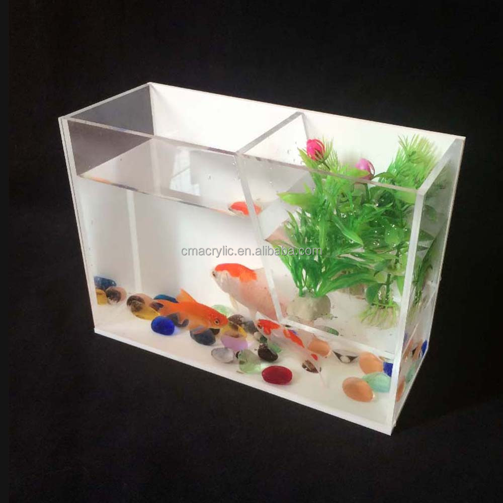 White and clear color acrylic fish tank aquarium for sale