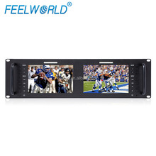 "D71 Dual 7"" Rackmountable Monitor with 3G-SDI HDMI AV"