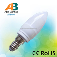 hot sale dimmable 2.5w warm white e14 b15 12v 24v led candle bulb