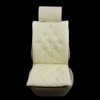 PVC leather business style quilting car seat cushion car seat cover beige