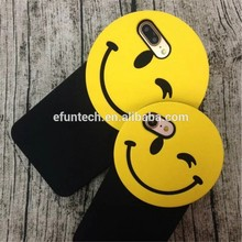 Low price lovely smile face gel silicone cell phone cover for iphone SE 5S