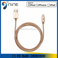high quality high speed data transmission MFI Certified braided 2 in 1 USB cable for Apple mfi usb cable