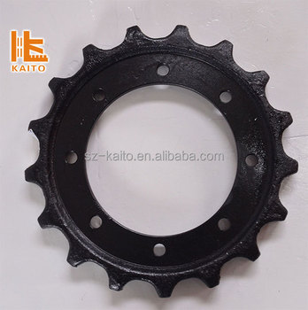 sprocket wheel gear undercarriage part of crawler track milling pave machine