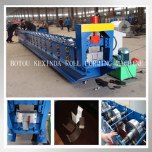China cold roll forming half round rain spout aluminium gutter making machine