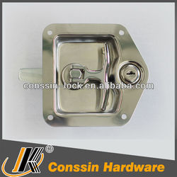 Stainless steel T drop lock straight tongue with gasket