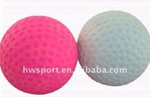 colorful rubber foam golf ball