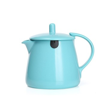 Glazed Ceramic Tea Pot for customized logo design