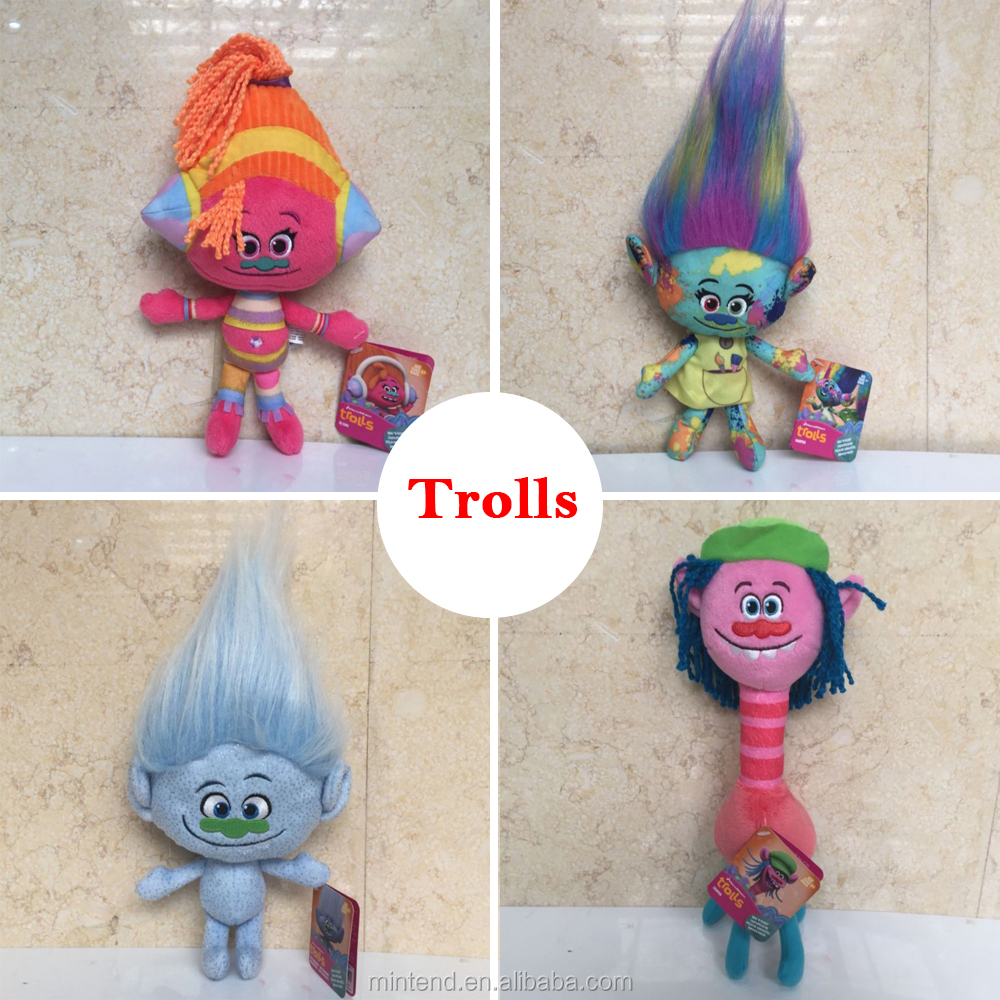 2016 Lovely movie cartoon figure plush dolls stuffed kids trolls toys