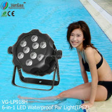 VanGaa Led Waterproof Par Light9*18w Rgbw Ce For The Disco Dj light