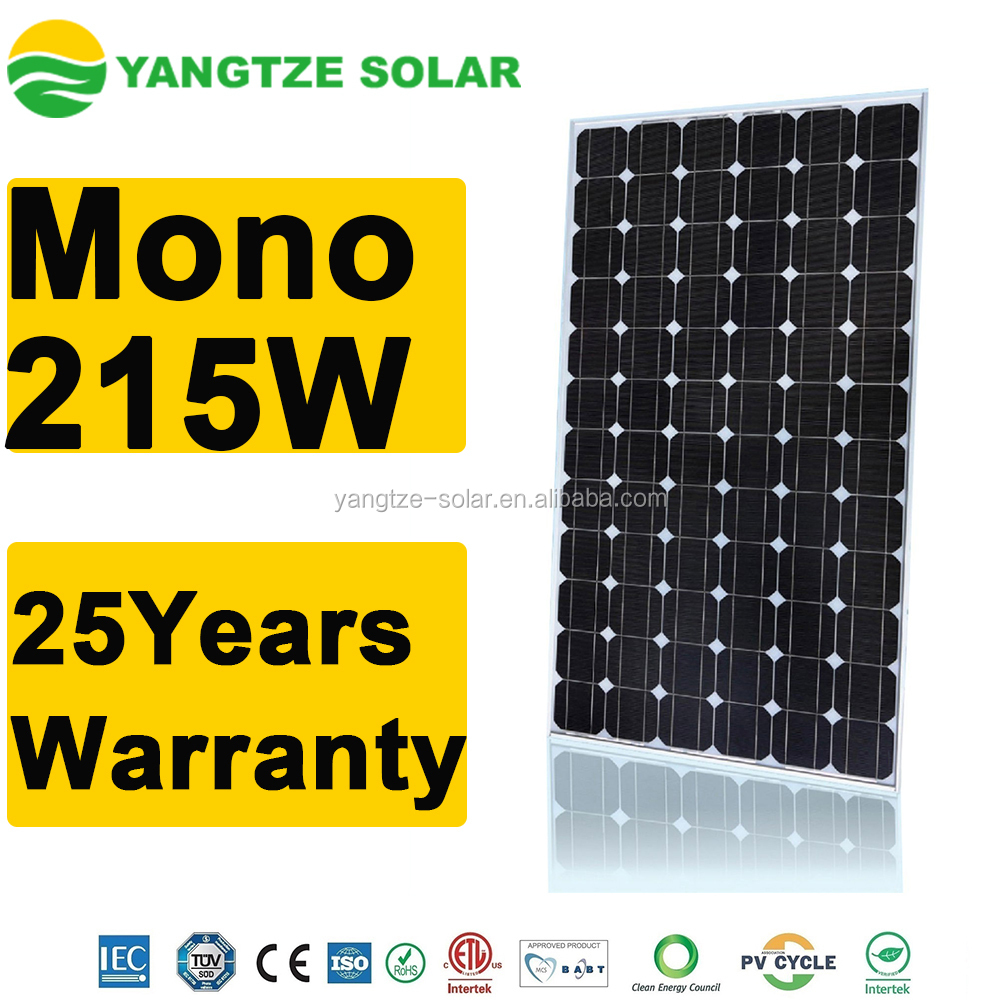 Yangtze 25 years warranty poly solar panel 215w