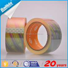Good machine manufacturing printed sealing tape jumbo roll with Strong viscous not easy to fall off
